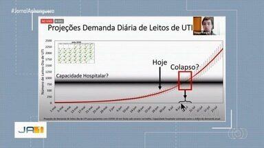 UFG estima colapso hospitalar em julho e 18 mil mortes por Covid-19 até setembro, em Goiás - Estudo prevê números caso isolamento social continue em 36,89%. Universidade propõe estratégia de isolamento em que comércio alternaria o funcionamento a cada 14 dias.