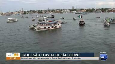 No dia de São Pedro, pescadores homenageiam padroeiro com procissão fluvial, em Santarém - Devido a pandemia, programação terá mudanças; confira.
