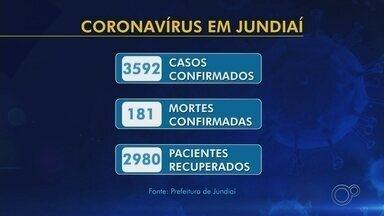 Com mais quatro mortes, Jundiaí soma 181 óbitos por coronavírus; casos chegam a 3.592 - A Prefeitura de Jundiaí (SP) confirmou quatro novos óbitos por coronavírus nesta segunda-feira (29). A cidade também registrou 51 novos casos da doença.