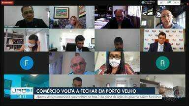Porto Velho volta para a fase 1 do plano de ação de combate a Covid-19 - Governo de RO e prefeitura entraram em acordo durante audiência judicial fechamento de parte do comércio