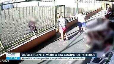 Adolescente é morto em campo de futebol - Saiba mais em g1.com.br/ce