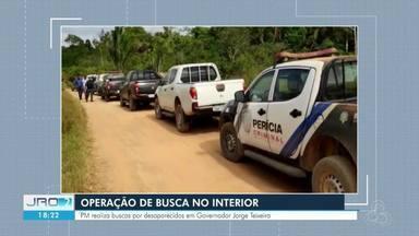 Polícia realiza buscas por trabalhadores desaparecidos na região de Gov. Jorge Teixeira - Trabalhadores desapareceram em fazenda