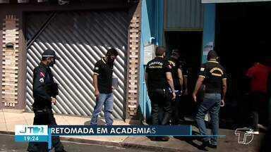 Academias voltaram a funcionar nesta segunda-feira (29) em Santarém - Confira restrições, previstas em decreto, que devem ser seguidas por estabelecimentos.