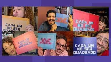 Programa de 03/07/2020 - Paulo Vieira e Fernando Caruso recebem Bruno Mazzeo, Débora Lamm, Fabiula Nascimento e Lúcio Mauro Filho em sua mesa de bar virtual para uma roda de brincadeiras.