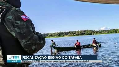 Semma e Cipamb realizam ação de fiscalização na região do Tapará, em Santarém - Intenção da ação foi realizar orientações aos comunitários.