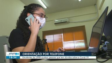 Estudantes da UFRR ajudam pessoas que tem dúvidas sobre a Covid-19 através do telefone - O modelo de atendimento é autorizado pelo Ministério da saúde.