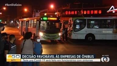 Liminar ordena testagem de funcionários do transporte para coronavírus, em Goiânia - Veja ainda como está movimento nesta manhã nos terminais da capital.