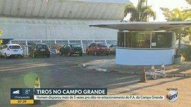 Homem dispara tiros para o alto no pronto-atendimento do Campo Grande, em Campinas - Caso aconteceu no estacionamento da unidade, na noite de quarta-feira (1º). De acordo com funcionários, foram cerca de cinco disparos; a Guarda Municipal foi acionada, mas o homem deixou o local antes da chegada da corporação.