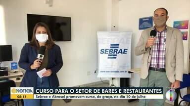 Sebrae e Abrasel promovem curso gratuito para setor de bares e restaurantes - O curso é realizado para orientar os empreendedores neste recomeço das atividades econômicas.
