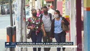 Pedro Leopoldo vê número de casos da Covid-19 disparar em um mês. - Cidade registrou aumento de 350% no número de confirmações da doença.