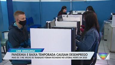 Litoral norte fecha cinco mil postos de trabalho em 2020 - Caraguatatuba tem a pior situação entre as cidades