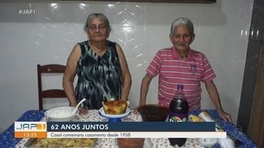 Casal comemora 62 anos de casados no Amapá - Casal comemora 62 anos de casados no Amapá