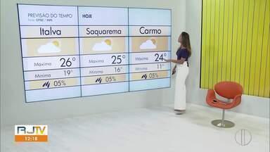 Veja a previsão do tempo para as cidades do interior do Rio - Veja a mínima e máxima da temperatura para as cidades da região.