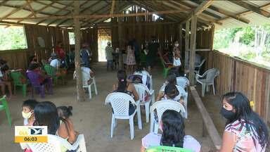 Ação reforça combate ao coronavírus entre os índios no Vale do Pindaré - Índios Guajajaras, da terra indígena Pindaré, foram testados para a Covid-19.