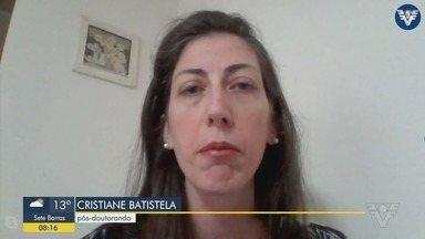 Professora desenvolve pesquisa relacionada ao novo coronavírus. - Cristiane Batistela falou sobre o seu atual trabalho.