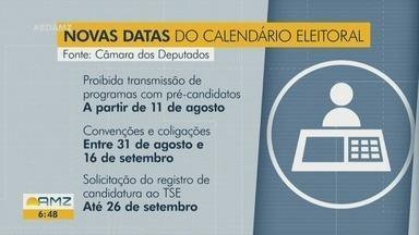 Acompanhe as novas datas do calendário eleitoral 2020 - Dados são da Câmara dos Deputados.