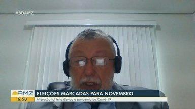 Desembargador do TRE-AM fala sobre mudanças nas eleições 2020 - Aristóteles Lima Tury concede entrevista ao Bom Dia Amazônia.