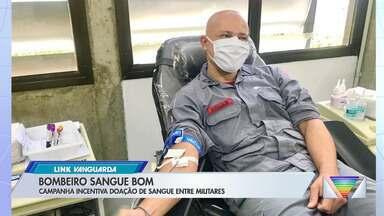 Corpo de Bombeiros realiza campanha de doação de sangue - Estoques de hemonúcleos estão em queda neste inverno