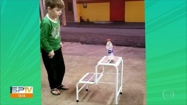 Criançada adere ao desafio da garrafa nas Olimpíadas da Sacada - Criançada adere ao desafio da garrafa nas Olimpíadas da Sacada