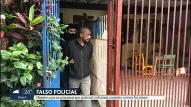 Homem que se passava por policial militar para cometer crimes no centro e zona sul é preso - A prisão ocorreu em Guarulhos, São Paulo.