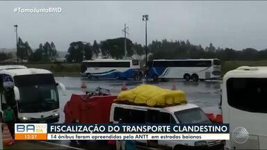 Transporte clandestino têm aumento no interior da Bahia; passageiros voltam de SP e RJ - A circulação dos intermunicipais está suspensa em mais de 300 cidades baianas por causa da pandemia, ocasionando o crescimento dos flagrantes de transporte irregular.