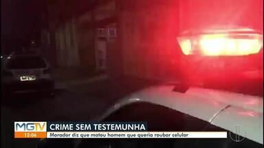 Homem é morto a pauladas em Governador Valadares - Autor, que já tem passagens por homicídio, contou aos militares que reagiu após a vítima exigir o telefone celular dele.