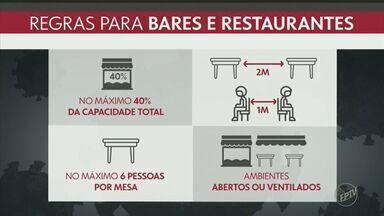Capital paulista se prepara para retomada de bares e restaurantes nesta segunda-feira - Cidade liberou a volta de funcionamento dos estabelecimentos após avançar para a fase amarela do Plano SP.