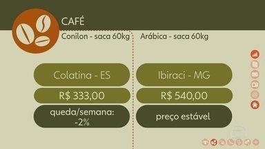 Confira como ficou a cotação do café nesta semana - Saca do conilon teve queda de 2% na semana no preço praticado em Colatina (ES)