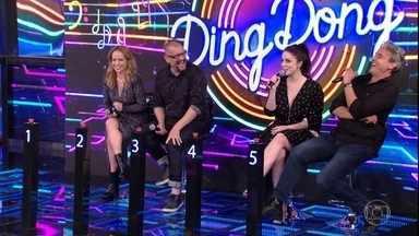 Ding Dong recebe Alexandre Borges, Bia Arantes, Marcello Airoldi e Fernanda Nobre - Elenco de Deus Salve o Rei participou da disputa musical