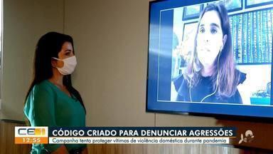 Campanha contra violência doméstica ajuda mulheres a denunciar agressões por meio de códig - Saiba mais no g1.com.br/ce