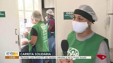 Centro de quarentena para pacientes de Covid-19 é inaugurado em Vitória - Carreta distribui alimentos e roupas para famílias durante pandemia.