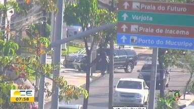 Acidente é registrado nesta manhã na Av. Desembargador Moreira - Saiba mais em g1.com.br/ce