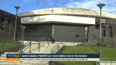 Santuário do Perpétuo Socorro está fechado para visitações - Dois padres e dois seminaristas foram infectados pela Covid-19.