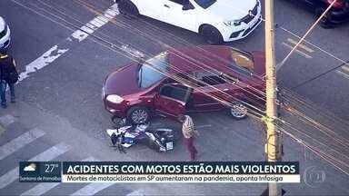 Acidentes com motos mais violentos na pandemia - Levantamento do Infosiga revela aumento de mortes em maio de 2020