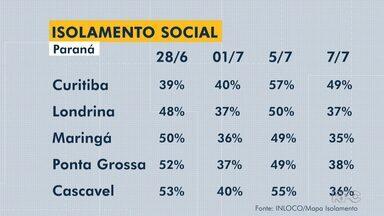 Isolamento social teve resultado melhor em Curitiba do que em cidades do interior - Decreto estadual deve ser cumprido por 141 cidades.