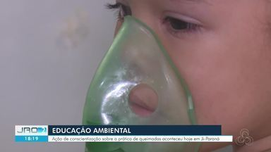 Em Ji-Paraná, ação é realizada para conscientizar população sobre perigo das queimadas - Consequências podem ser agravadas com a pandemia da Covid-19