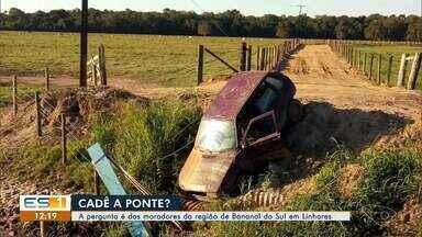 Sem uma ponte, moradores de Bananal do Sul convivem com acidentes - Veja a reportagem!