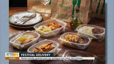 Em festival gastronômico de São Mateus, clientes recebem as comidas em casa - Veja a reportagem!