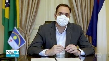Governador Paulo Câmara faz balanço das ações contra a pandemia em Pernambuco - No dia 12 completou quatro meses desde a primeira confirmação para a doença no estado.