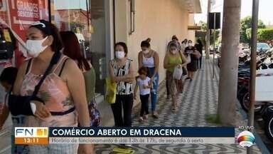 Comércio de Dracena reabre nesta quarta-feira - Decreto municipal estabeleceu a data da reabertura.