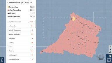 Confira as atualizações dos números de Covid-19 no Oeste Paulista - Cidades registram aumento de casos.