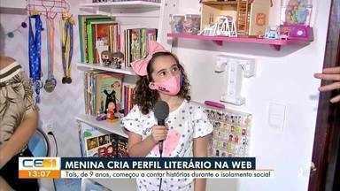 Menina de 9 anos cria perfil literário durante isolamento social - Saiba mais no g1.com.br/ce