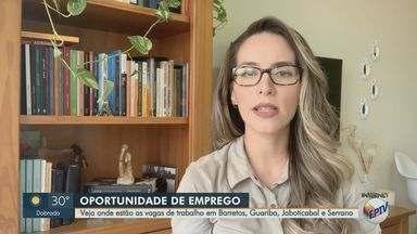 Região tem quatro cidades com vagas de trabalho abertas - Confira as oportunidades em Barretos, Guariba, Jaboticabal e Serrana.