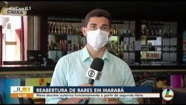 Decreto da prefeitura de Marabá autoriza a reabertura de bares e restaurantes em Belém - Decreto da prefeitura de Marabá autoriza a reabertura de bares e restaurantes em Belém