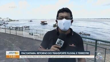 Prefeitura de Itacoatiara, no AM, libera o retorno do transporte fluvial e terrestre - Serviços de transporte estavam suspensos devido a pandemia.