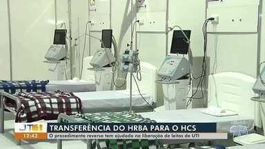 Procedimento reverso tem ajudado na liberação de leitos de UTI em Santarém - Pacientes têm sido transferidos do Hospital Regional para o Hospital de Campanha.