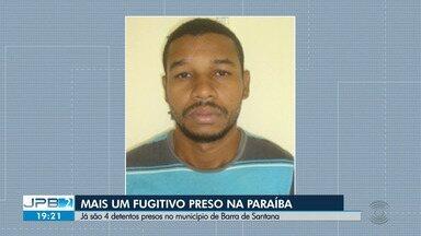 Mais um fugitivo de presídio em Pernambuco é preso na Paraíba - Já são 4 detentos presos no município de Barra de Santana, no Agreste paraibano.