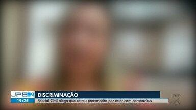 Policial Civil alega que sofreu preconceito por estar com coronavírus, em Campina Grande - Ela disse que se sentiu discriminada ao tentar fazer um teste de Covid-19 em um laboratório da cidade.