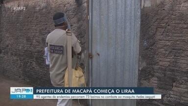 Agentes de endemias iniciam 4ª etapa do LiraA em Macapá para combate ao Aedes aegypti - Profissionais percorrem residências de bairros com maior incidência de casos para orientar moradores sobre cuidados com o causador da dengue, chikungunya e vírus da Zika.