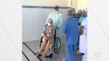 No Tocantins, mulher com Covid morre horas depois de receber alta da UTI - Angelina Macedo, tinha 60 anos, chegou a ser entubada e ficou 11 dias na unidade. Na alta, ela estava visivelmente debilitada, mas mesmo assim foi liberada pelos médicos. O Ministério Público vai investigar o caso.
